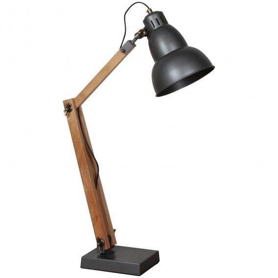 Elégant mélange de métal et de bois, la lampe Architect habillera votre séjour avec style. Grâce à sa son bras articulé, vous pourrez facilement la régler et ainsi obtenir l'éclairage parfait avec style ! Câble : 2,5 m. Pied en bois : 18x15,5 cm. Ampoule E27 maxi 40W (ampoule non fournie).