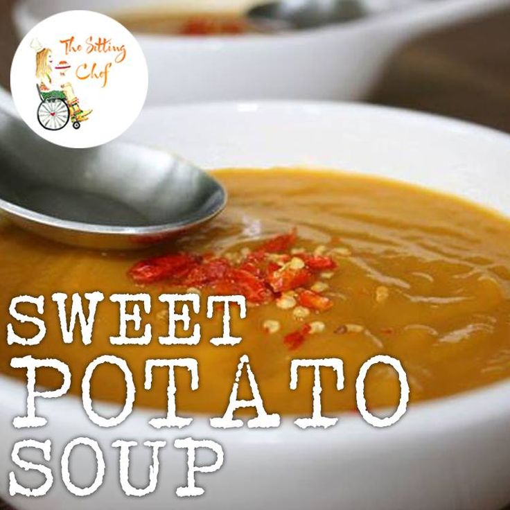 """A hearty soup to warm you up!  Made with sweet potatoes and ginger, this savory soup with a hint of sweetness and spice is one of my favorites. The secret ingredient is """"Garam Massala"""", an Indian spice blend. The nice thing about this soup is that it's wonderfully smooth and creamy, yet completely #vegan, low in fat and very #healthy! Enjoy!"""