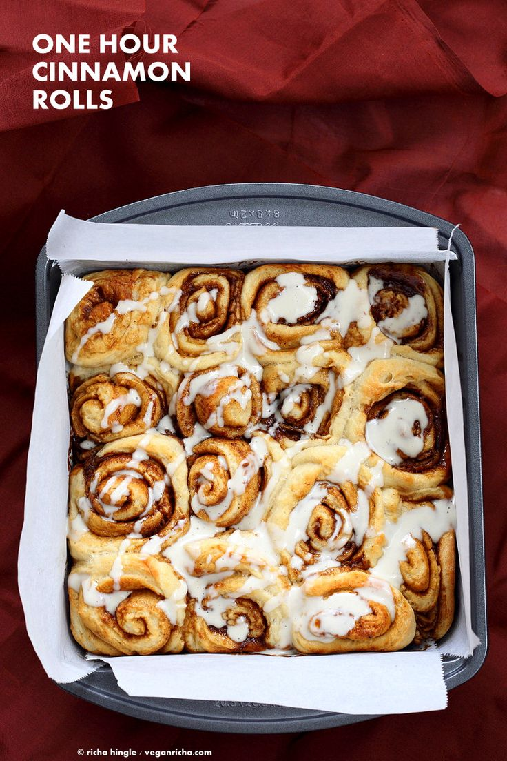 Easy Homemade 1 hour Cinnamon Rolls with Cashew cream frosting. Vegan Cinnamon Rolls with Aquafaba. Ready in 60 minutes. Vegan Soy-free Palm Oil free Recipe
