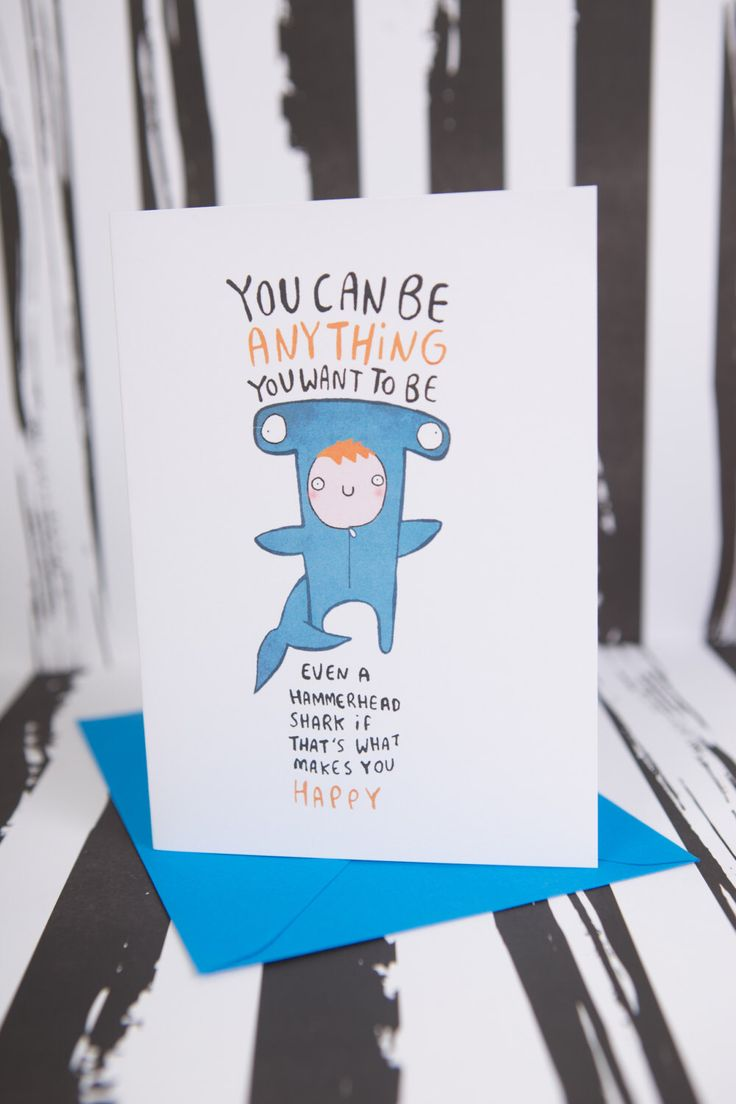 You can be anything you want to be - Greeting Card - Good Luck - Happy Birthday - Congratulations - New Job - Kids card by KatieAbeyDesign on Etsy https://www.etsy.com/uk/listing/220645983/you-can-be-anything-you-want-to-be