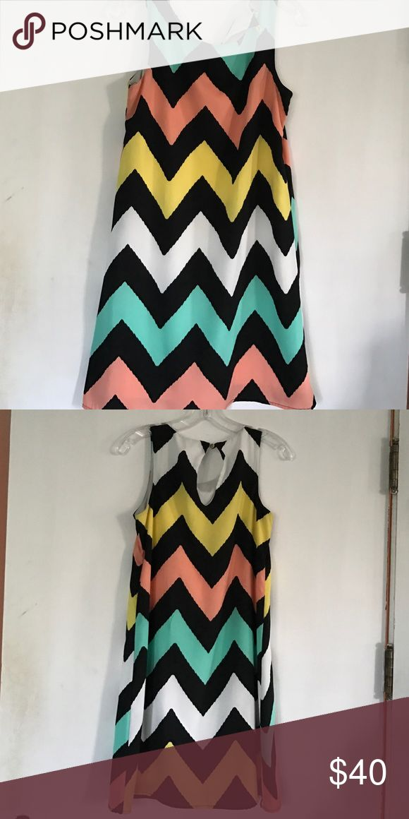 Only worn once! Pastel chevron dress! Only worn once! Pastel chevron dress! Dresses