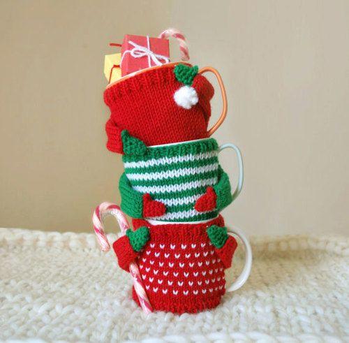 Christmas mug sweaters! These are cute.