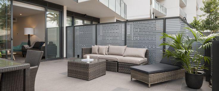 Caroline Serviced Apartments Sandringham - Two bedroom terrace apartment terrace area