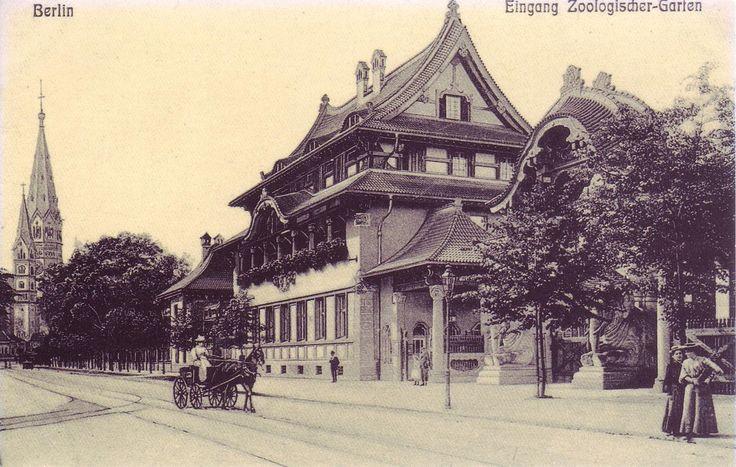 BERLIN 1880, das Elefanten Tor, einer der Eingänge zum Zoologischen Garten