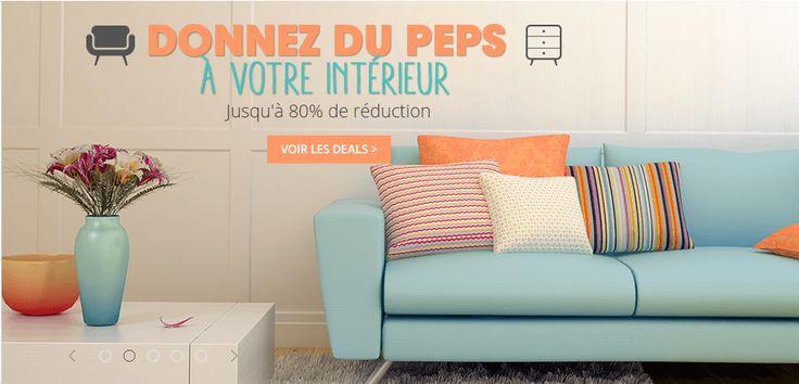 80% offerts sur les articles d'intérieur : #chaises, #lits, #bancs de rangement, #rideaux, #stores, #canapés, #fauteuils, #matelas #BonPlan, #Promotion