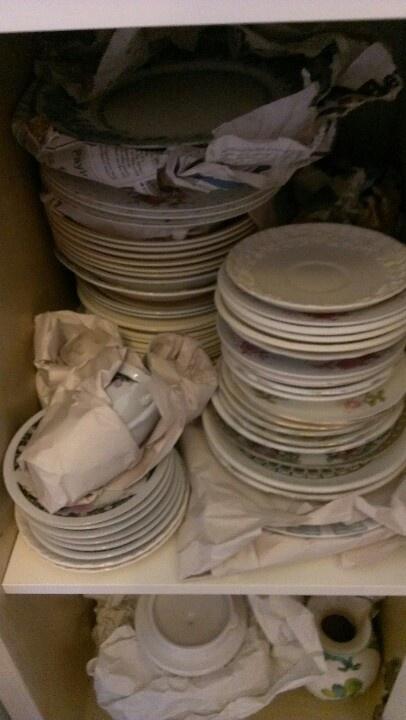 Crockery- so many saucers
