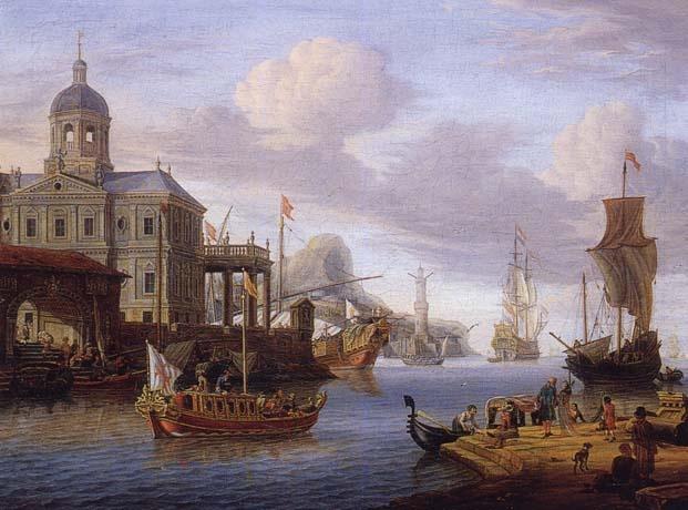 A City Pier | Abraham Storck