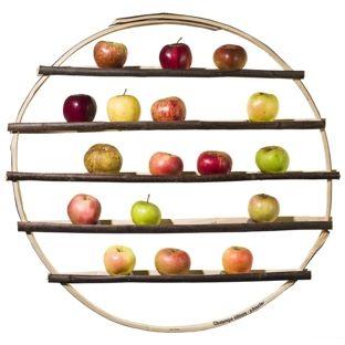 Arbre d'hiver (diamètre 70 cm)  Design Godefroy de Virieu  Botanique Éditions  Pour stocker les pommes et les poires et pour les laisser mûrir.
