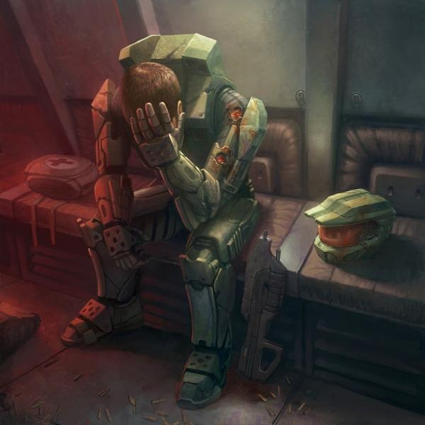 Master Chief, I just wanna reach my arms in there hug him and then go and find cortana for him!
