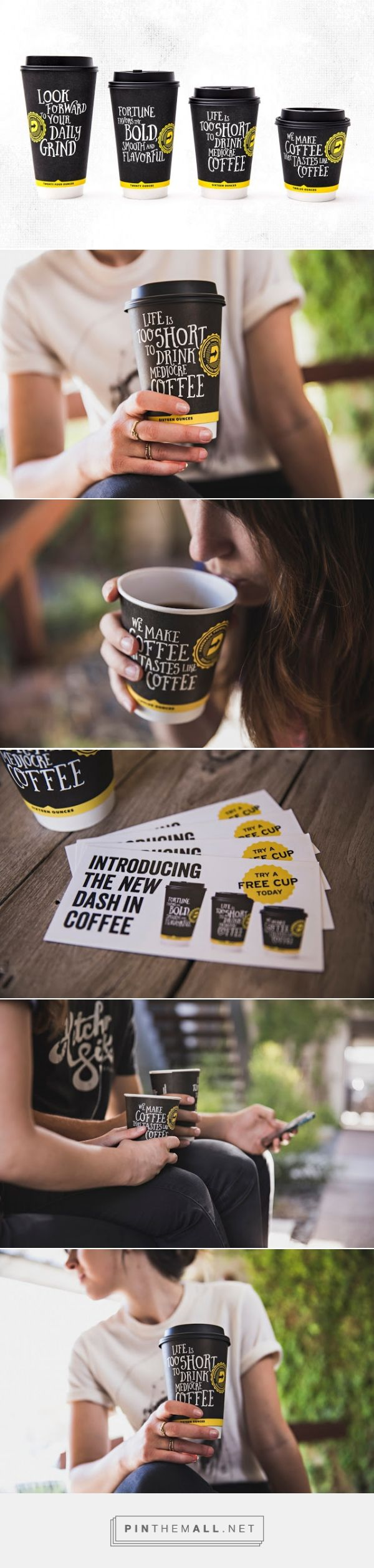 Dash In ‪#‎Coffee‬ ‪#‎packaging‬ designed by Kitchen Sink Studios, Inc. - http://www.packagingoftheworld.com/2015/06/dash-in-coffee.html