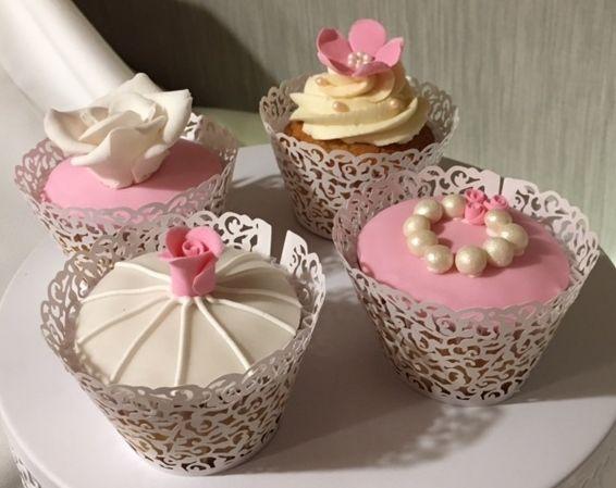 Wedding Cake Cupcakes  Violeta Glace