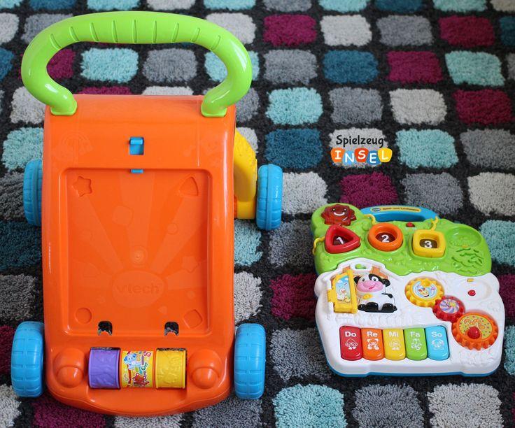 Das Spielboard kann vom Lauflernwagen abgenommen werden.