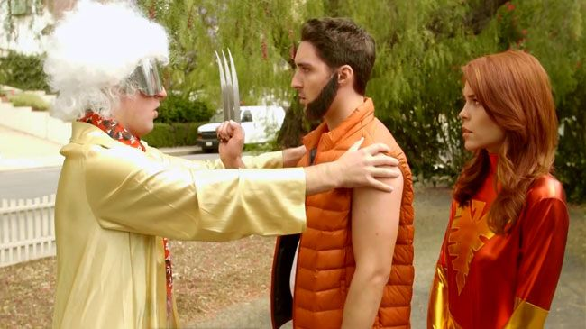 X-Men go Back to the Future in timely parody:   X-Men: Days of Future Past was all about traveling back in time but the X-men go Back to the Future in a parody by The Warp Zone YouTube channel. X-Men Days of Back to the Future Past casts Wolverine and Jean Grey (Erin Robinson) as Marty McFly and Jennifer Parker.   #funny #xmen #timetravel #ErinRobinson #comics #movies   http://l7world.com/2014/05/x-men-go-back-future-timely-parody.html