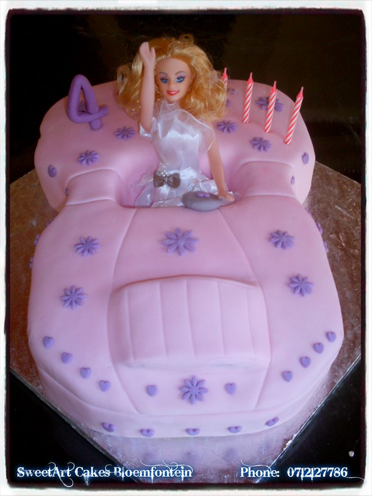 BARBIE CAR CAKE  For more info & orders, email Sweetartbfn@gmail.com or call 0712127786  Connect with us on Facebook: https://www.facebook.com/SweetArtCakesBfn