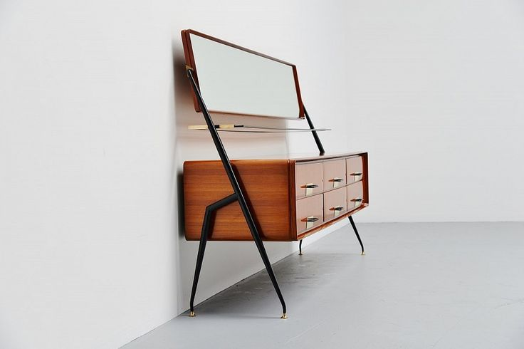 Silvio Cavatorta Sideboard With Mirror Italy 1958 | Mass Modern Design