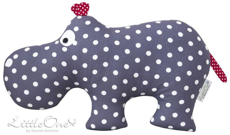 """Kuscheltiere - the hippo """"HUGO"""" - ein Designerstück von LittleOne-by-Rachel-McCann bei DaWanda"""