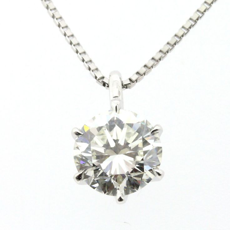 """Pt900 850 PLATINUM DIAMOND 1.300ct NECKLACE[Price]JPY648,000 *Approximately US $5,816.45[Condition]""""EXCELLENT pre-owned condition"""""""