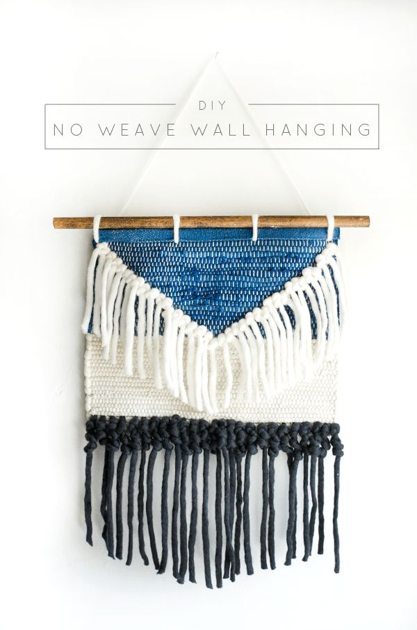 DIY No Weave Wall Hanging