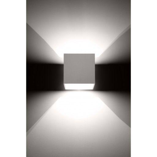 Lampa Scienna Kinkiet Led Kwadrat Bialy Gora Dol Wall Light Fittings Wall Lights Downlights