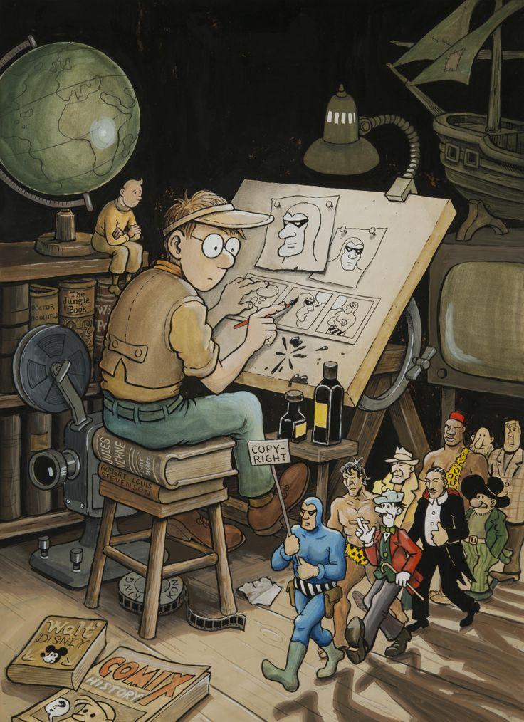 Jan Loof - His comic book Felix