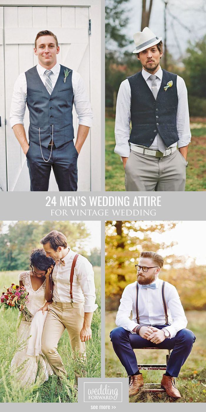 24 Vintage Men's Wedding Attire For Themed Weddings ❤ Grooms are faced with options almost as endless as bride ones. Planning a themed wedding? We got you covered! Take a look on vintage men's wedding attire! See more: http://www.weddingforward.com/vintage-mens-wedding-attire/ #weddings #groom