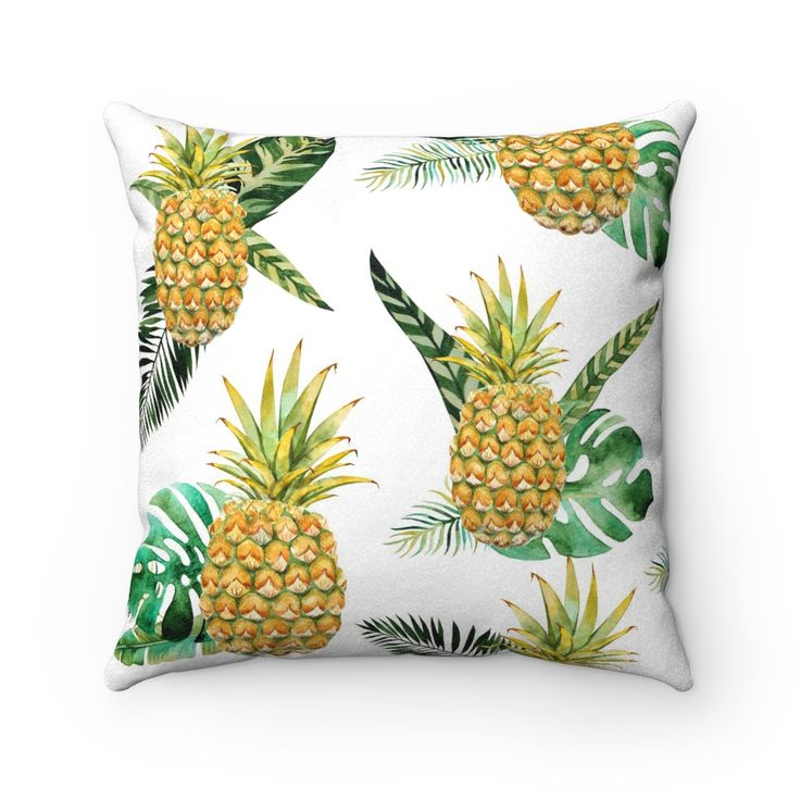 Welcome Pineapple Decorative Throw Pillow, Tropical Throw Pillow, Decorative Throw Pillow for Beach House
