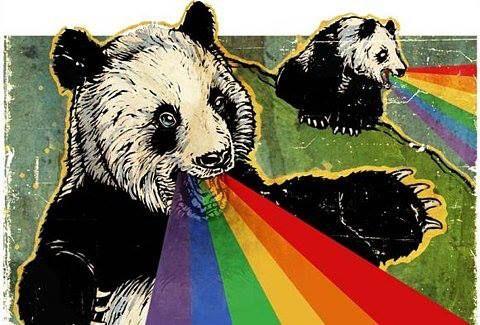 pandas puking rainbows