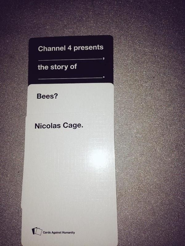 "Would watch. | 20 Times The UK Edition Of ""Cards Against Humanity"" Was Too Real"