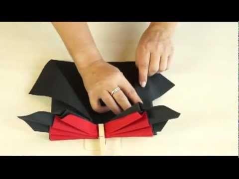 AVA servetten vouwen: de paradijsvogel - YouTube