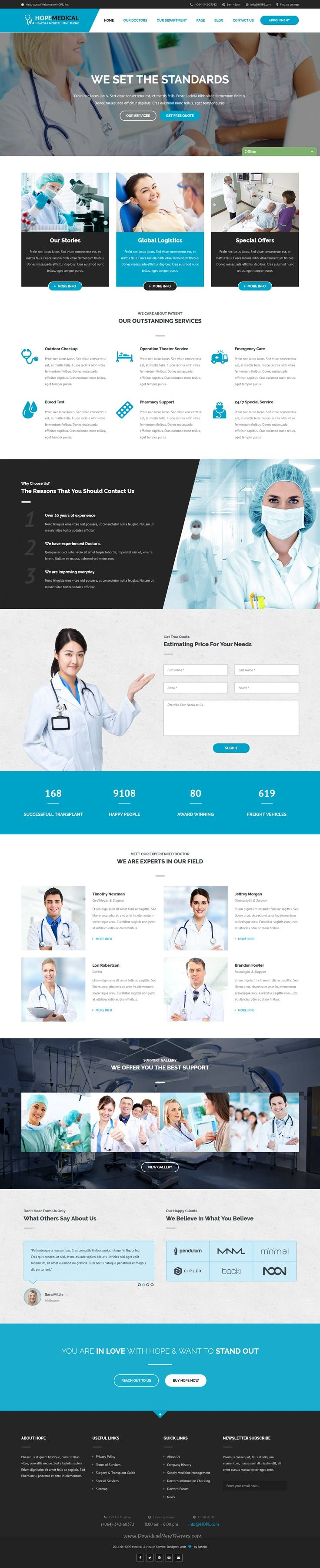 Hope Medical is a perfect Bootstrap #HTML template for #Health and Medical #websites with 3 stunning homepage variations download now➯ https://themeforest.net/item/hope-medical-health-and-medical-html-template/16972479?ref=Datasata