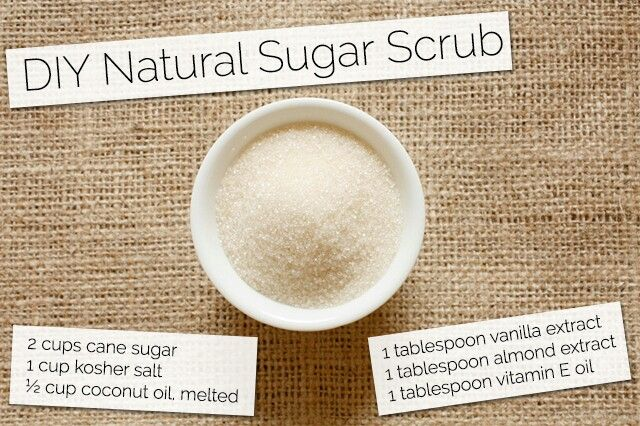 how to make sugar scrub without coconut oil