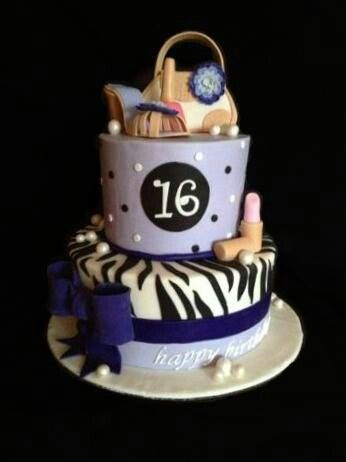 Sweet 16 Birthday Cake I Made For A Girl Names Angelica Who Was Turning 16 Years Old I Was Very