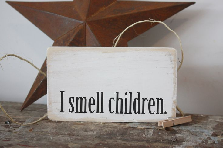 I smell children, hocus pocus funny mini wood sign, halloween decor, modern farmhouse decor, small signs, home decor