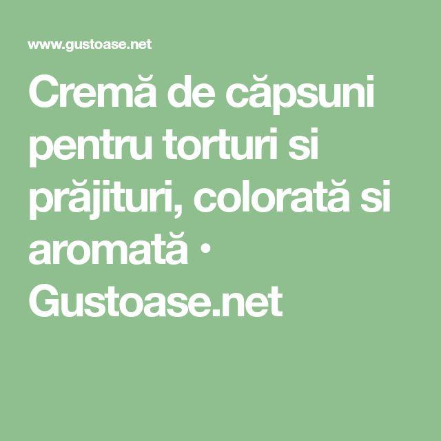 Cremă de căpsuni pentru torturi si prăjituri, colorată si aromată • Gustoase.net
