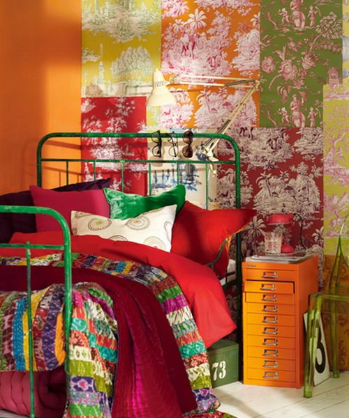 dream-bedroom-with-patchwork-walls