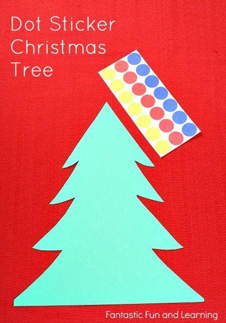 Easy Dot Sticker Christmas Crafts: Tree & Wreath! Fine Motor extravaganza! LUV it!