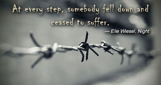 Elie Wiesel quote from night on death