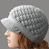 This hat is crocheted with a brim, but you could just as easy go without it and wear it as a beanie. For me the brim looks okay as it is, but for a sturdier brim you could add a lining underneath to help keep the shape better.