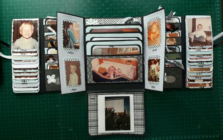 4/5 Gatefold folio done for 140 baby pics of my husband