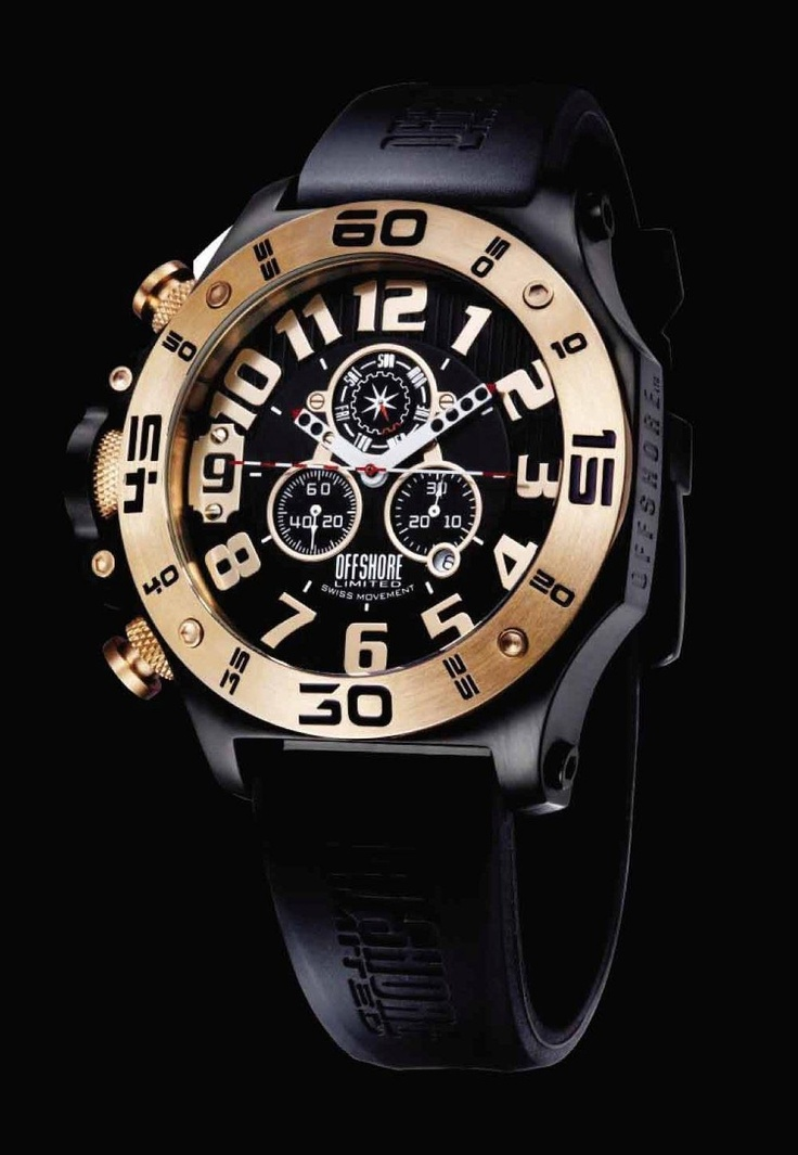 Offshore Tornade Black & Rose Gold 48mm    €250.41   Model: Offshore Tornade Black & Rose Gold 48mm  Movement: Analogue Quartz  Functions: Hours, Minutes, Seconds, Chronograph, Date, Day  Case: Stainless Steel  Bracelet: Rubber ( Caoutchouc )  Size: 48mm  Glass: Mineral    (Para residentes em Portugal, ao preço listado acresce o IVA à Taxa em vigor)