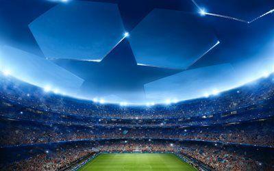 壁紙をダウンロードする uefa, チャンピオンリーグ, サッカースタジアム