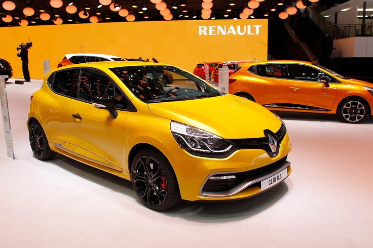 Turbocharged Renault Clio R.S, (Renault Sport) - shown at Car Show Geneva 2013