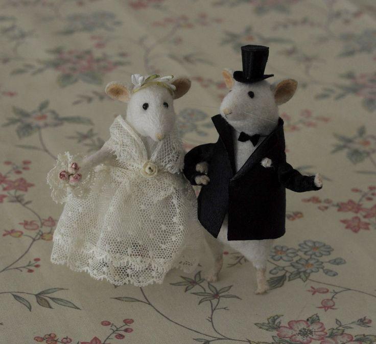 Stuffed Animals by Natasha Fadeeva - wedding mice