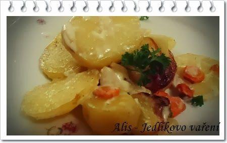 Jedlíkovo vaření: gratinované brambory s mrkví #recipe #czech #brambory #mrkev  #recept