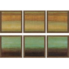 Layered Details by Hibberd 6 Piece Graphic Art Plaque Set (Set of 6)