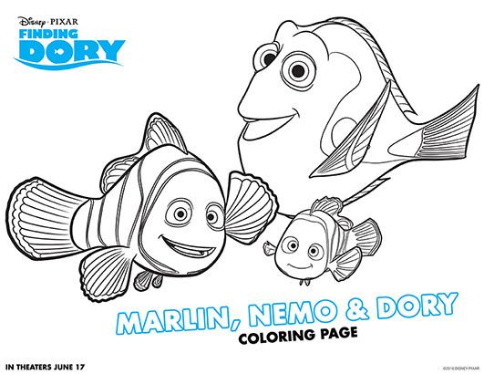 set of free finding dory printable coloring pages coloring sheets finding nemo - Pixar Coloring Pages Finding Nemo