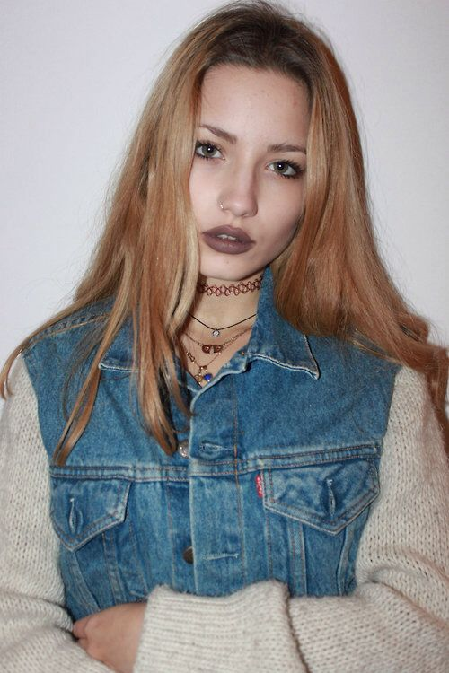 Grunge                                                                           Need to know what colour lipstick that is