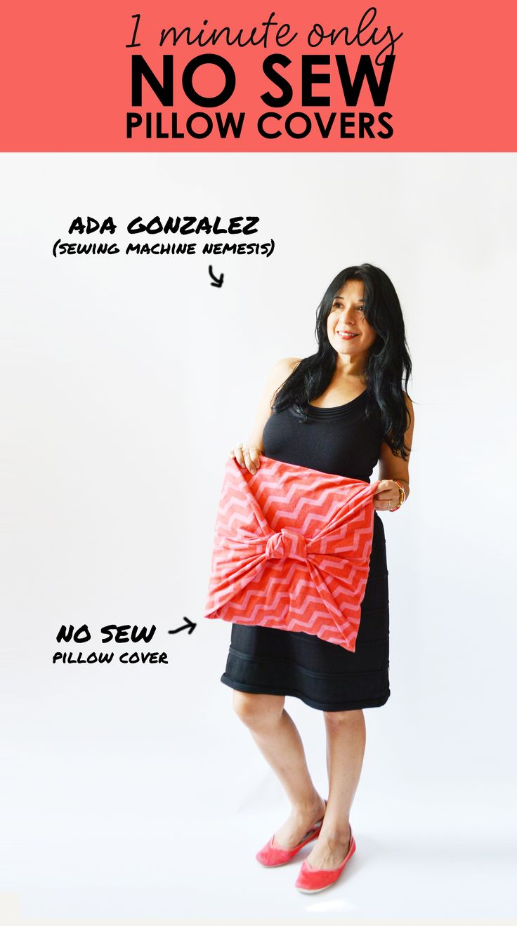 Keep your old pillow insert  and replace your pillow cover. With this 1 MINUTE FOLDING TECHNIQUE you can DIY EASY NO SEW PILLOW COVERS in just 1 minute. Seriously, i timed it. Read the 7 STEPS.
