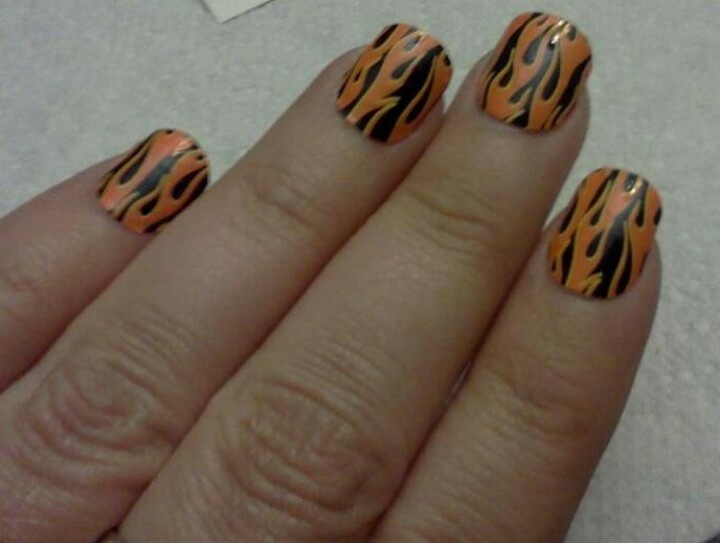 Flaming nails get them easy from Jamberry