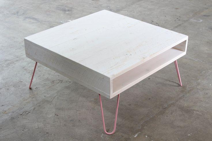 """tavolino caffè """"Depot Bianco Polar 80x80cm"""", legno massello, gambe tavolo personalizzabili, piano Bianco, tavolino personalizzabile di dokke su Etsy"""